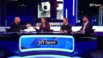 Watch James Richardson and the European Football Show team sing 'Last Christmas'