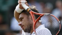 Switzerland's Stan Wawrinka was beaten in straight sets in Tokyo