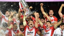 St Helens captain Paul Wellens, centre, has signed a new deal with the club