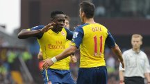 Danny Welbeck, left, believes there is plenty he can still improve on at Arsenal