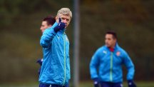 Arsene Wenger, pictured, must do without injured midfielder Jack Wilshere