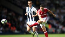 Middlesbrough's Stewart Downing has a rare shot in their 0-0 draw at West Brom on Sunday