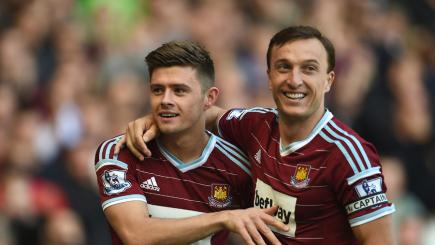West Ham duo Aaron Cresswell and Mark Noble