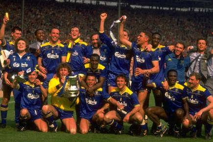 The Wimbledon FA Cup final winning team of 1988