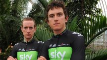 Bradley Wiggins, left, and Geraint Thomas are among Team Sky's team for the Gent-Wevelgem classic