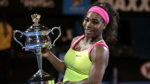 Serena Williams lifted her 19th grand slam title on Saturday (AP)