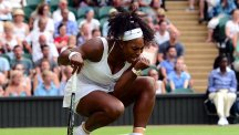 Serena Williams, pictured, faces Heather Watson next