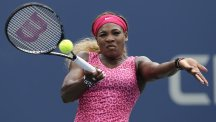 Serena Williams is through to her first grand slam quarter-final of the year in New York (AP)