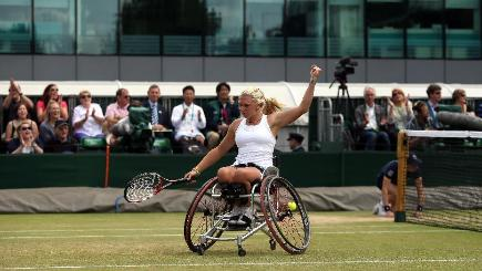 Jordanne Whiley remains on course to win all four grand slams this year (PA)