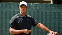 Tiger Woods has been unable to swing a club during his injury lay-off
