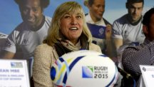 Debbie Jevans is busy organising the 2015 Rugby World Cup