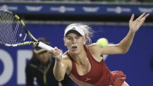 Caroline Wozniacki, pictured, made hard work of beating Jarmila Gajdosova (AP)