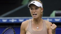 Caroline Wozniacki, pictured, will face Ana Ivanovic in the final (AP)