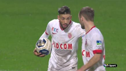 Yannick Ferreira-Carrasco steals the ball away from Monaco team-mate Valerie Germain.
