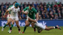 Johnny Sexton, pictured, and Conor Murray were lauded by Ireland team-mate Simon Zebo