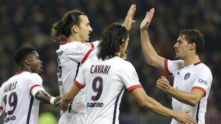 Zlatan Ibrahimovic scored two goals for Paris St Germain against Nice (AP)
