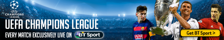 Watch UEFA Champions League exclusively live on BT Sport