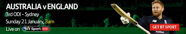 Watch the Australia v England ODI series exclusively on BT Sport