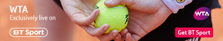 Join now to watch WTA Tour tennis exclusively live on BT Sport all season long