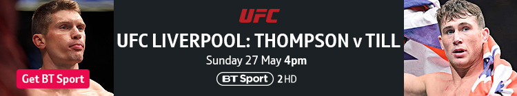 Join now to watch UFC Liverpool exclusively live on BT Sport