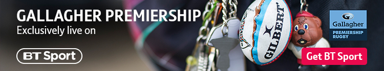 Watch Premiership rugby exclusively on BT Sport