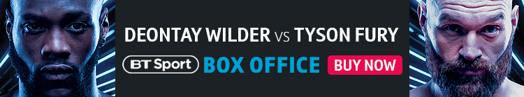 Buy now to watch Deontay Wilder vs Tyson Fury exclusively live on BT Sport Box Office