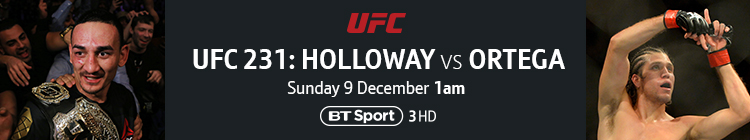 Join now to watch UFC 231: Holloway v Ortega exclusively live on BT Sport