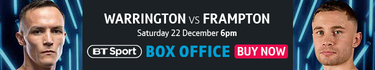 Buy now to watch Josh Warrington vs Carl Frampton exclusively live on BT Sport Box Office