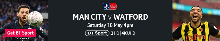 Join now to watch Man City v Watford live on BT Sport