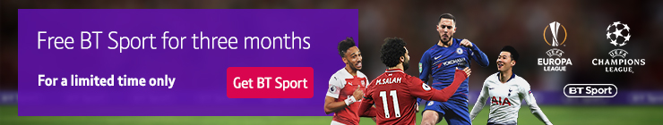 Join BT Sport today and get three months free