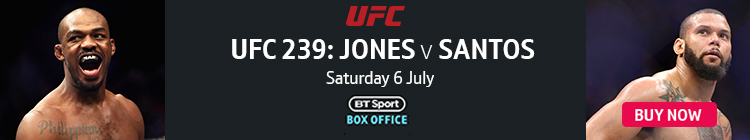 Buy now to watch UFC 239: Jones v Santos exclusively live on BT Sport Box Office