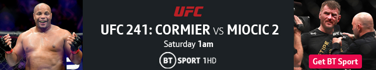 Join now to watch UFC 241 on BT Sport
