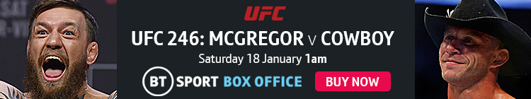Watch UFC 246: McGregor v Cowboy exclusively live on BT Sport Box Office