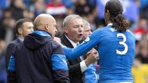 Ally McCoist, centre, is trying to prevent his players being distracted by off-field events