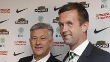 Peter Lawwell, left, is keeping faith with under-fire Celtic boss Ronny Deila, right