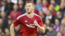 Adam Rooney scored his 10th goal of the season as Aberdeen moved second in the Scottish Premiership