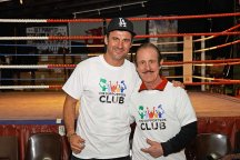 Joe Calzaghe and his father Enzo