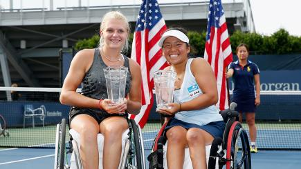 Jordanne Whiley completed a calendar Grand Slam at the US Open