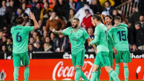 Karim Benzema's added-time equaliser leaves Real Madrid level with Barcelona
