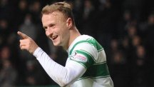 Celtic's Leigh Griffiths celebrates scoring their fifth goal of the game against Hamilton