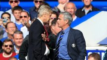 Jose Mourinho, right, is unconcerned about his record against Arsene Wenger, left