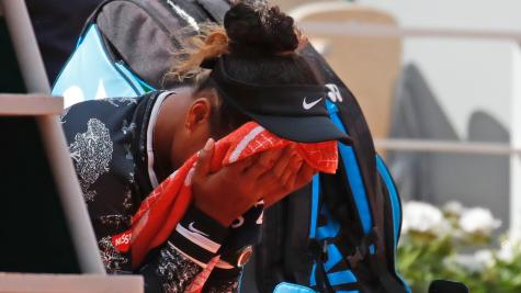 Osaka 'nervous' against Schmiedlova but goes into second round