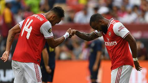 Pierre-Emerick Aubameyang and Alexandre Lacazette