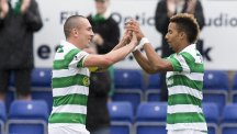 Scott Sinclair, right, joins Celtic hero in record books