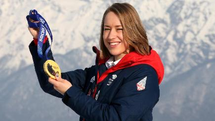 Lizzy Yarnold has returned to training ahead of the new Skeleton World Cup season